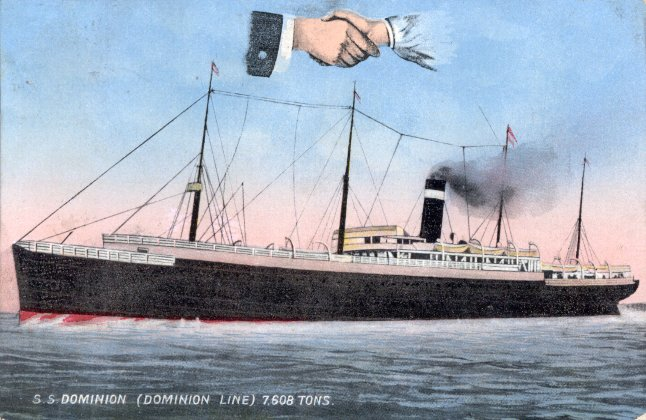 Postcard of SS Dominion