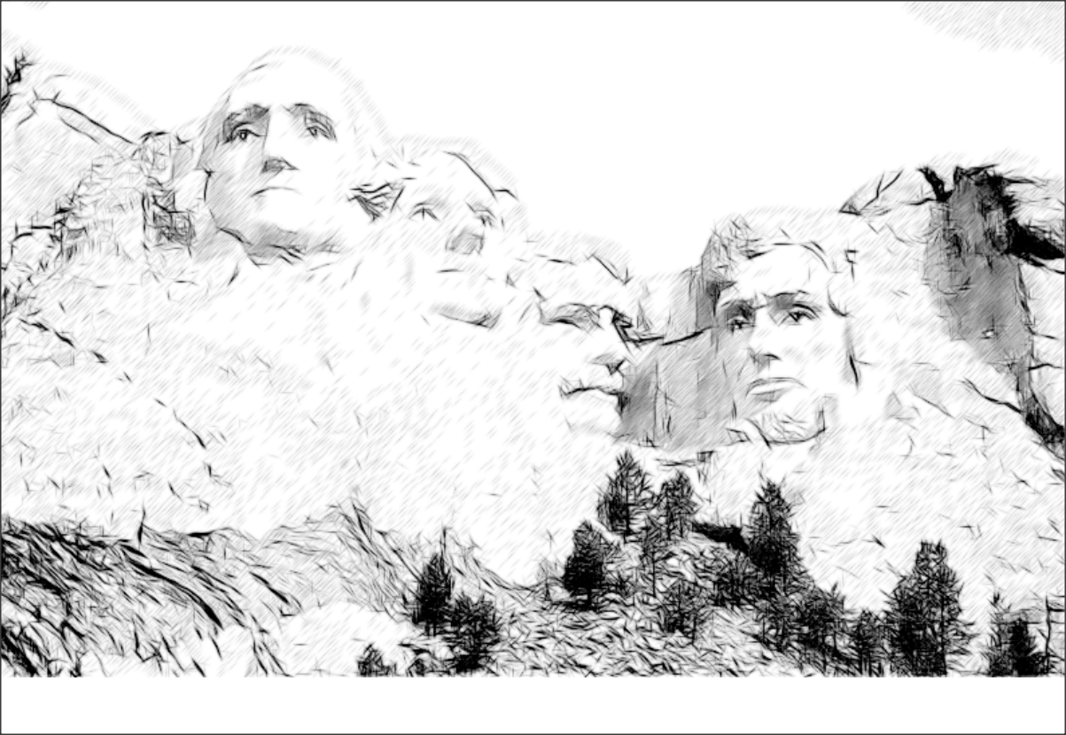 Coloring For Kids On Mount Rushmore