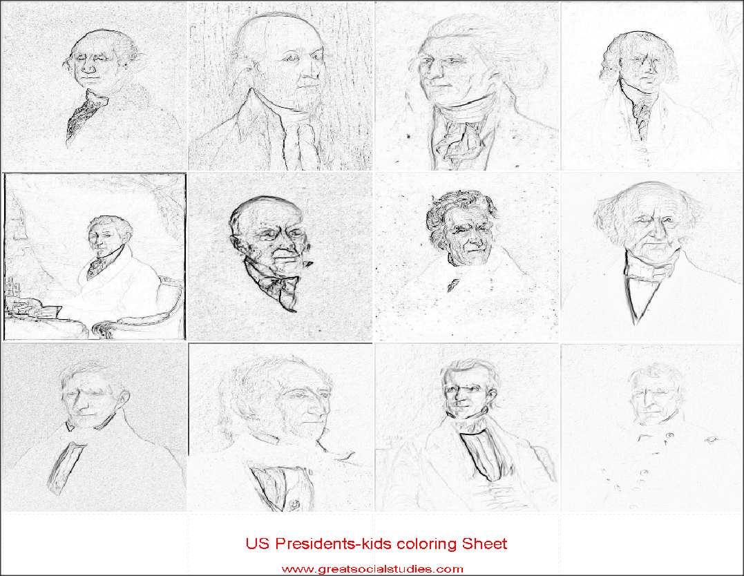 Coloring Sheets For Teens All Us Presidents Print To