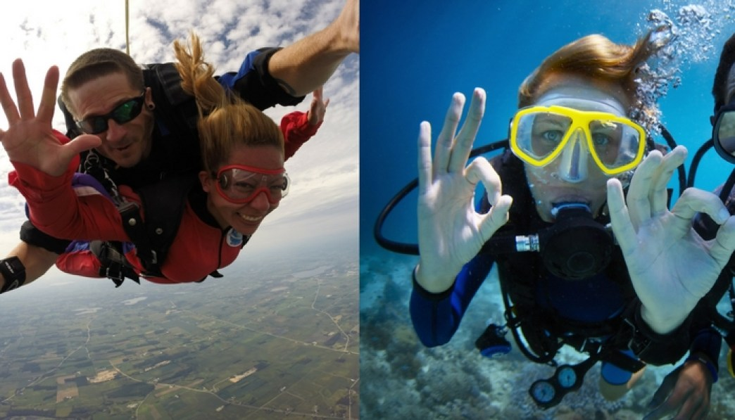 Scuba Diving and Skydiving