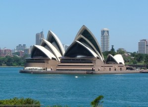 The iconic Opera House in Sydney Harbour