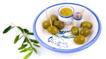 Delicious fresh olives