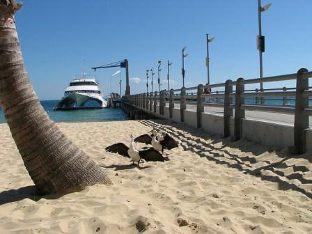 Catamaran on sandy beach