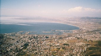 Bird's view of Cape Town