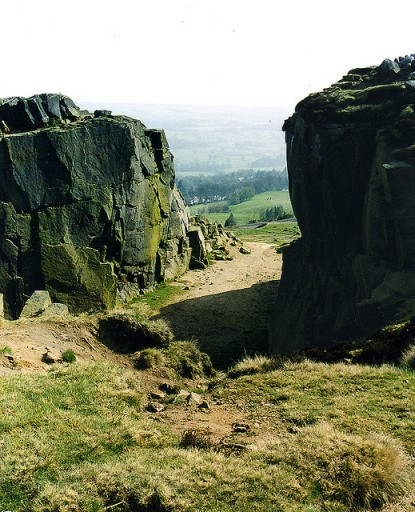Cow and calf rock, Ilkley
