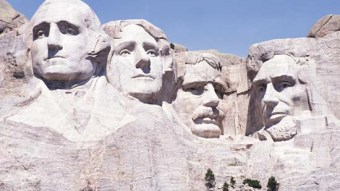 Mount Rushmore Memorial in South Dakota