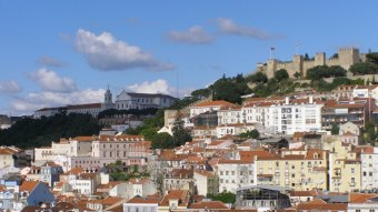 Panoramic view of Lisbon city