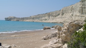Quiet beach in Cyprus