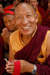 Happy Buddhist Monk