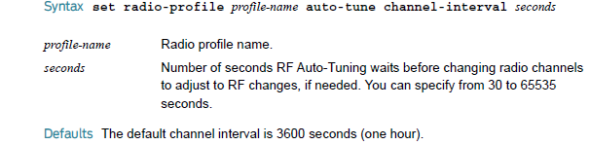 Radio Profile Auto Tune channel interval 2