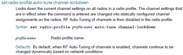 Radio Profile Auto Tune channel lockdown