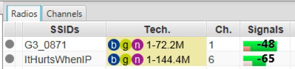 ESS signal levels, MacBook, no hub