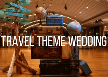 travel theme wedding example