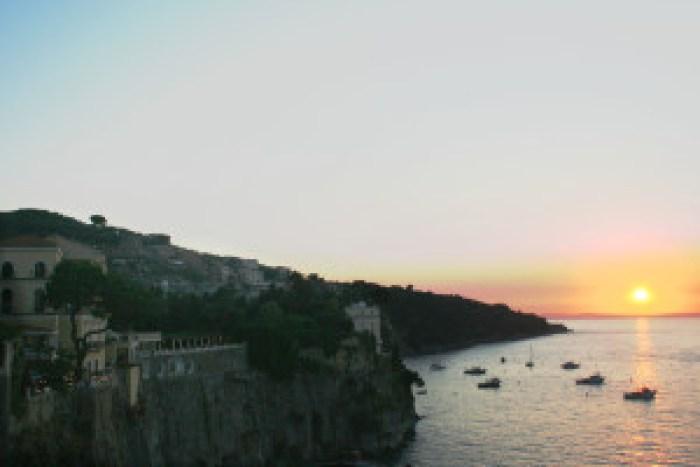 Sorento, saulėlydžio, Italijos geriausi dalykai