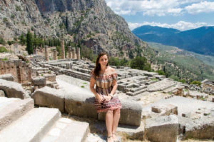 Temple to Apollo, Delphi, Delfi, Greece