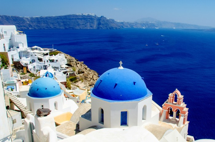 Oia, Santorini, Greece, Blue Domes Oia