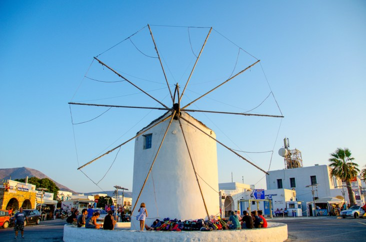 Paros, Parikia, Greece, Windmill
