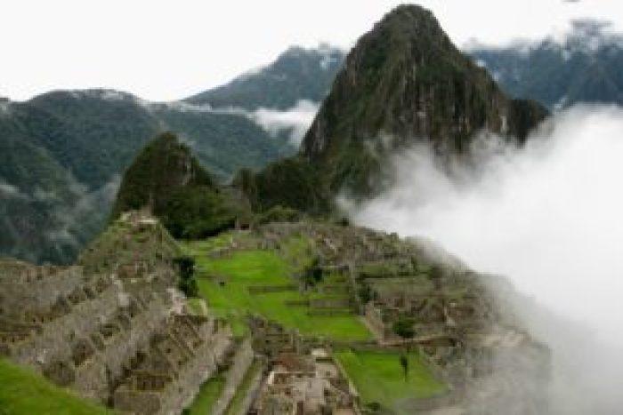 View of Machu Picchu: Near Aguas Calientes and Cuzco, Peru