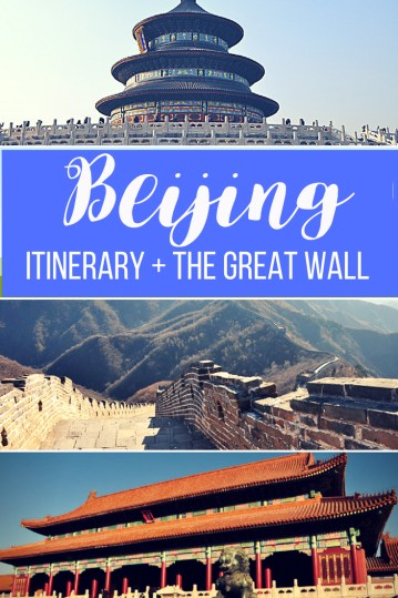 What to do and see with 3 days in Beijing, China plus the Great Wall!