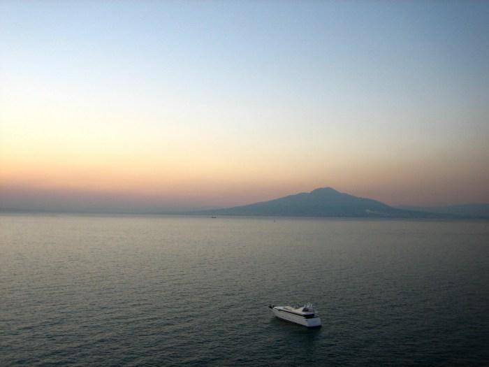 Sorrento, Vesuvius, Sunset