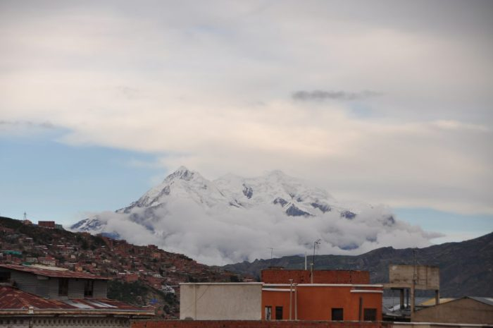 illimani mountain la paz bolivia