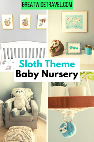 sloth theme baby nursery