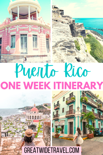 Things to Do with one week in Puerto Rico. A great itinerary including old San Juan, snorkeling in Culebra, and time in El Yunque