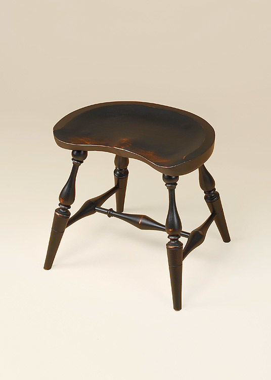Historical Saddle Seat Windsor Stool