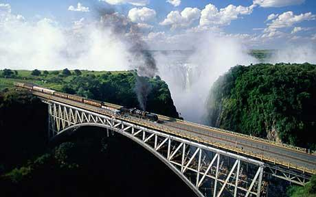Victoria Falls steam train