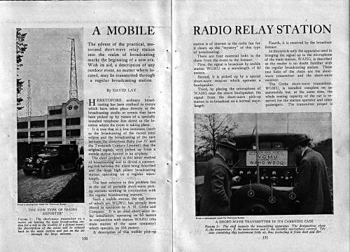 Popular Radio Article page one