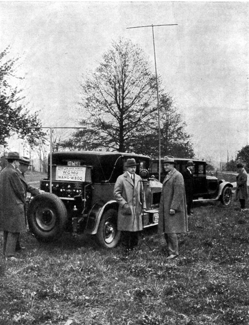 Alfred H. Grebe and company with the WGMU mobile radio broadcaster.