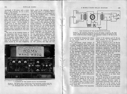 A Mobile Radio Relay Station, 134, 135. Popular Radio magazine, August, 1924.