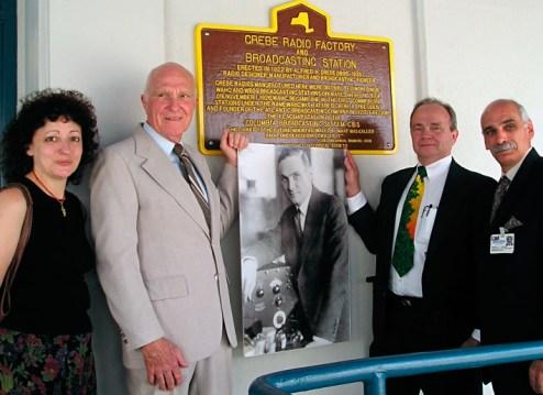 Grebe Factory Plaque Dedication, 2004
