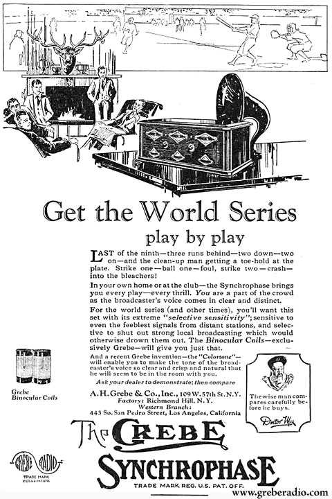 Grebe Radio Ad: Get the World Series