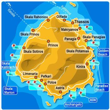 Mappa Thassos Cartina Di Thassos
