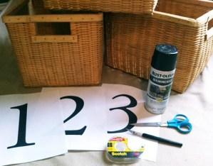 stenciled baskets | easy diy