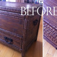 wicker chest redo | home office diy