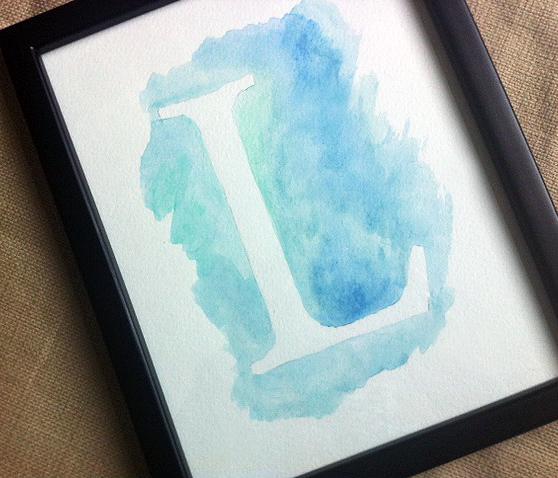 watercolor L