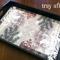 refinishing a wooden tray | diy
