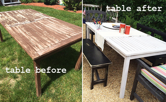 table before&after