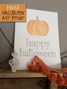 happy halloween | free art print