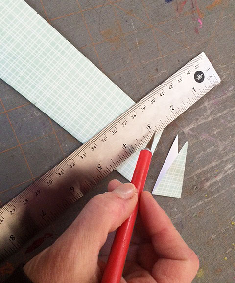 cutting triangles