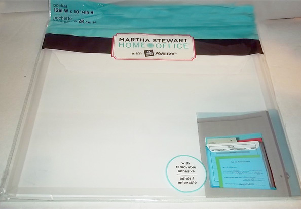 Martha Stewart adhesive pocket