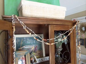 DIY bead & straw garland