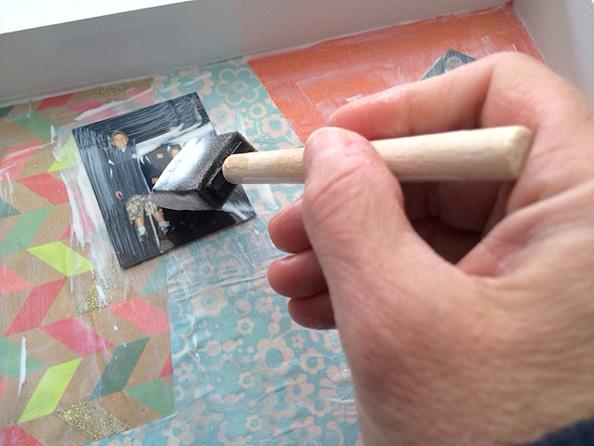 glueing photos