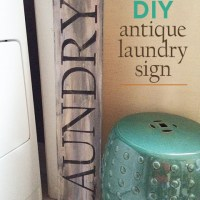 DIY antique laundry sign