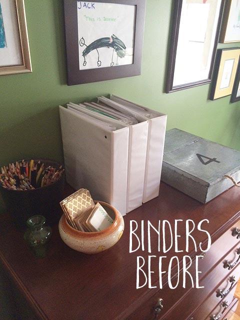 binders before re