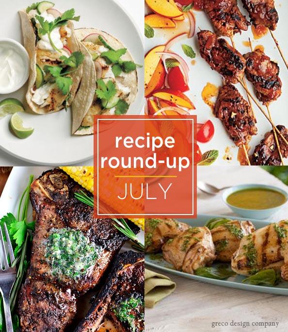recipe round up July
