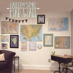 gallery style map wall