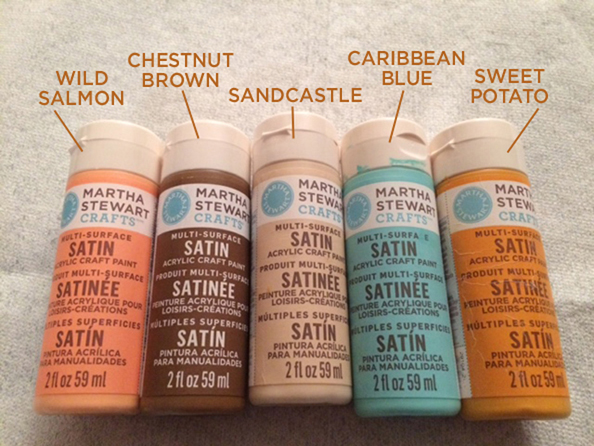 MS craft paint names